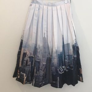 NYC skyline midi skirt, never worn